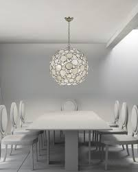 Best Illuminated Dining Images On Pinterest Chandeliers - All white dining room
