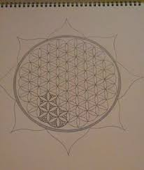 flower of life how to draw it u2026 flower drawings and mandala