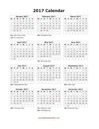 2017 us calendar printable free full page printable calendar yearly 2017 blank calendar