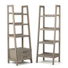 Distressed Wood Bookcase Simpli Home Sawhorse Distressed Grey Ladder Bookcase 3axcsaw 05 Gr