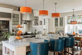 blue and orange decor orange kitchens with white cabinets orange and blue kitchen decor