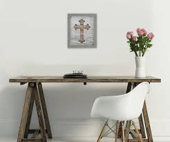 inspirational room decor rustic cross art u2013 framed inspirational decor u2013 cross wall decor