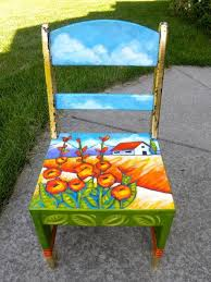 Ideas For Painting Garden Furniture by Best 25 Painted Chairs Ideas On Pinterest Hand Painted Chairs