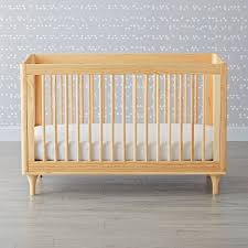 babyletto lolly natural 3 in 1 convertible crib the land of nod
