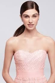 long strapless tulle dress with soutache ribbon david u0027s bridal
