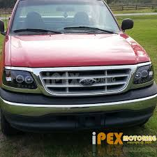 2002 ford f150 tail lights 1997 2003 ford f150 halo projector smoked black headlights smoke
