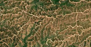 Spain Google Maps by Google Earth Fractals