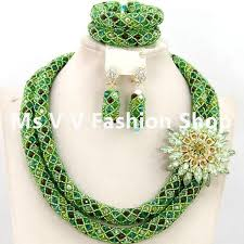 gold green necklace images 2018 african nigeria jewelery sets mix green multicolor crystal jpg