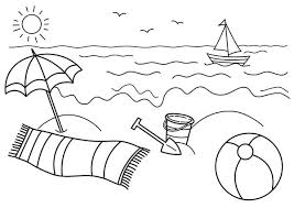 beach coloring pages preschool coloring pages beach beach ball coloring page cool beach ball