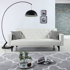What Sofa Should I Buy by Amazon Com Modern Tufted Bonded Leather Sleeper Futon Sofa With