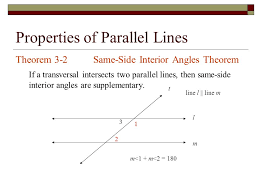 Same Side Interior Angles Postulate Properties Of Parallel Lines Transversal Line That Intersects