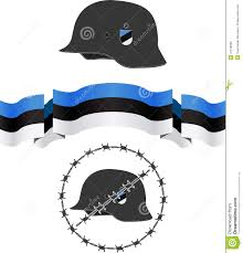 Estonian Flag Estonian Wsw Helmet And Flag Stock Photo Image Of Legion Sign