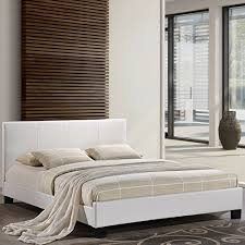 lexmod alex leather bed frame queen white queen bed frames