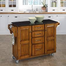 Mainstays Kitchen Island Cart by Home Styles Large Kitchen Cart White Black Granite Top