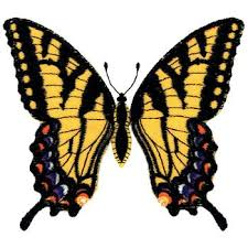 tiger swallowtail butterfly applique embroidery designs machine