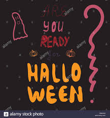 are you ready for halloween party invitation vector illustration