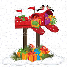 mailbox with christmas gifts stock vector art 619068162 istock
