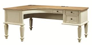 Shaped Desk Aspenhome Cottonwood Curved Half Pedestal L Shaped Desk With File