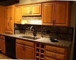 Kitchen Countertop And Backsplash Combinations White Off Cabinet Applied On The Black Ceramics Floor Kitchen