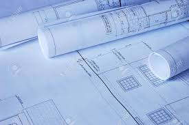 blueprints of a house blueprints of a house and rolls stock photo picture and royalty