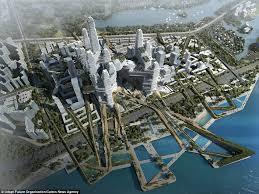 futuristic city with gardens Google Search