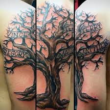 mens family tree ribbon arm tattoos tattoo pinterest family