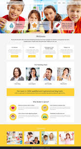 Resume Web Templates Day Care Responsive Website Template 53243