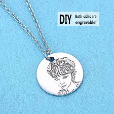 silver necklace diy images Blue sweet couple necklaces custom diy name picture photo jpg