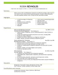 best resumes exles hvac technician resume exles best and refrigeration exle