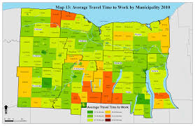 Travel Time Map Region Maps Genesee Finger Lakes Regional Planning Council