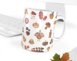 autumn mug etsy