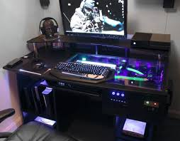 Good Computer Desk For Gaming by Desk Computer Built Into Desk Intended For Impressive Custom Pc