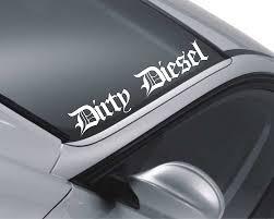 jdm honda sticker dirty diesel windscreen sticker car decal vehicle front window