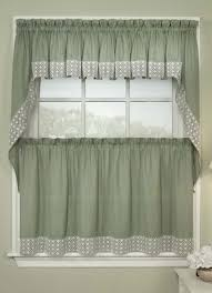 interior stunning old green jcpenney kitchen curtains with