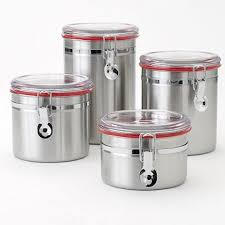 ebay kitchen canisters food network stainless steel kitchen canister set modern