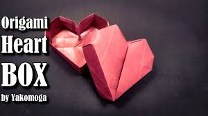 3d origami beginner tutorial origami box heart 3d origami easy tutorial origami gift box youtube