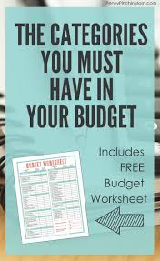 Create A Budget Worksheet 3174 Best Images About Money Saving Ideas On Pinterest Save