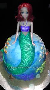coolest homemade ariel and other mermaids cakes