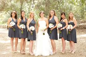 bridal party dresses charcoal gray convertible infinity bridesmaid dress