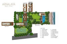 floorplan arnalaya beach house canggu 5 bedroom villa for rent