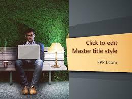 free freelancer work powerpoint template free powerpoint templates
