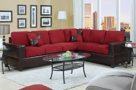 modern decoration living room with playa red fabric sectional sofa