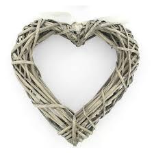 heart wreath wicker heart wreath 25 x 25 cm hobbycraft