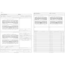dental receipt template dental health record form