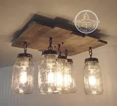 wood flush mount ceiling light mason jar flush mount ceiling light with reclaimed wood