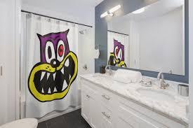 Crazy Shower Curtains Crazy Cat Shower Curtains U2013 Fun Shower Curtains
