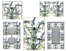 dragonfly 3 dragonflies home wall decor light switch plate