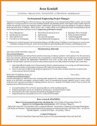 Erp Project Manager Resume Sample Cv Engineering Project Manager
