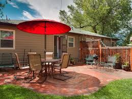 large backyard garden and patio area for re vrbo