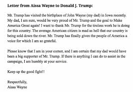 liberals outraged after john wayne u0027s daughter writes this letter